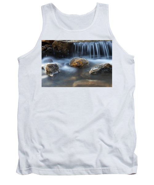 Tank Top featuring the photograph Icy Rocks On The Coxing Kill #1 by Jeff Severson