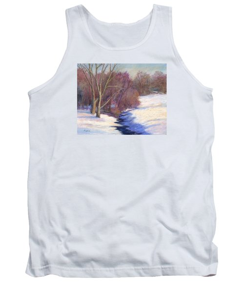 Tank Top featuring the painting Icy Stream by Vikki Bouffard