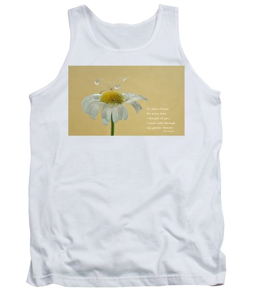 If I Had A Flower Quote Tank Top