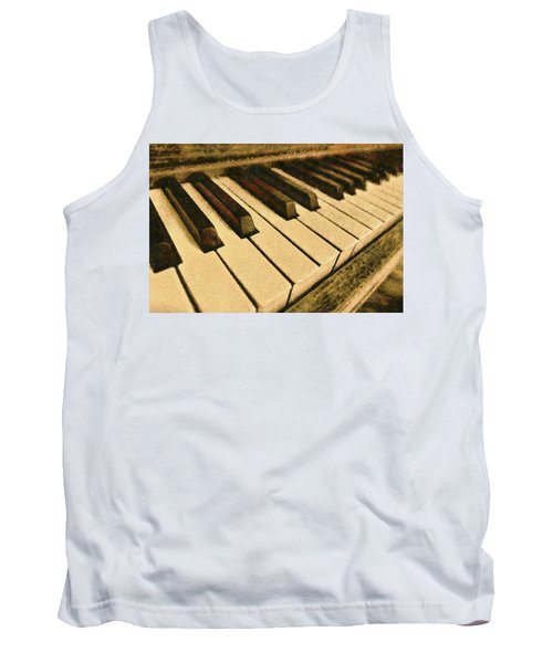 Tank Top featuring the painting If Monet Played by Harry Warrick