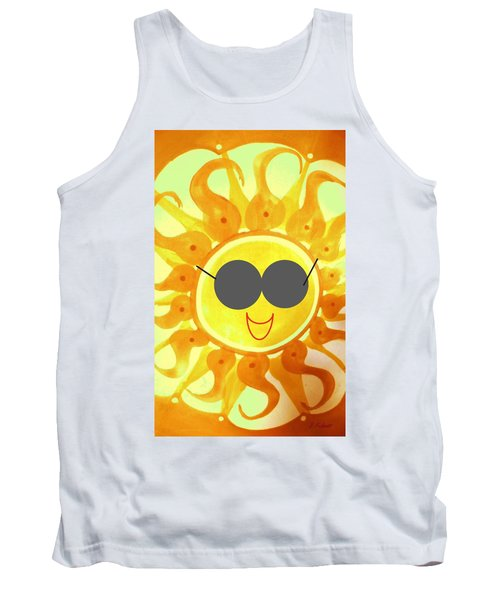 Tank Top featuring the painting I'm Too Hot For My Shades by Denise Fulmer