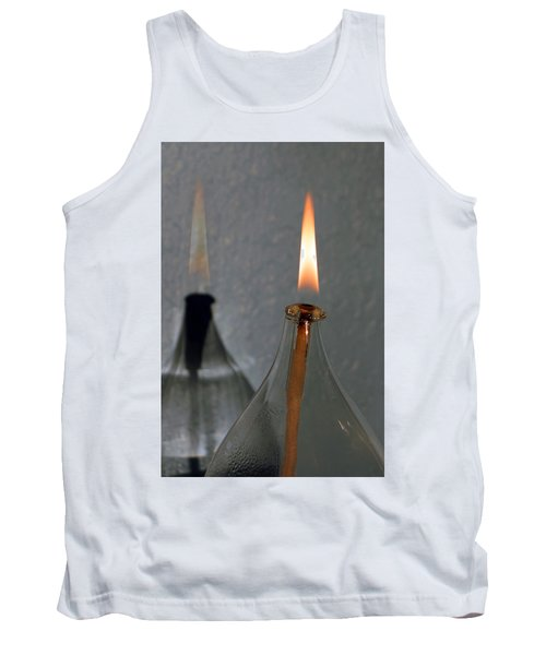 Tank Top featuring the digital art Impossible Shadow Oil Lamp by Jana Russon