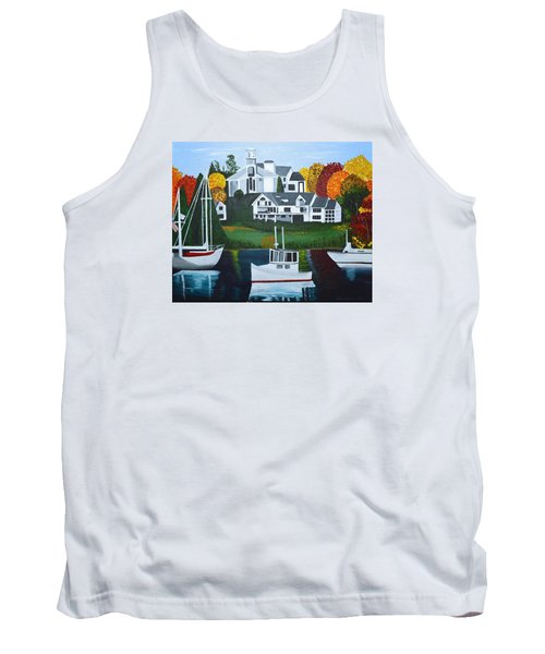Impressions Of New England Two Tank Top by Donna Blossom