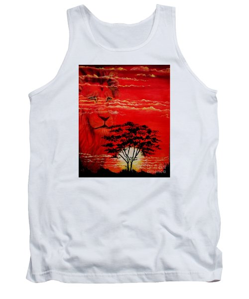 In An Arfican Sunset Tank Top by Ruanna Sion Shadd a'Dann'l Yoder