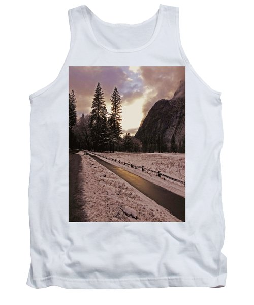 Tank Top featuring the photograph In Between Snow Falls by Walter Fahmy