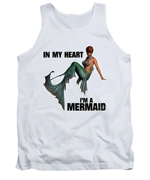 In My Heart I'm A Mermaid Tank Top