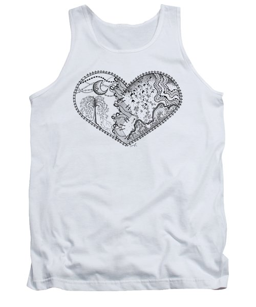 Repaired Heart Tank Top by Ana V Ramirez
