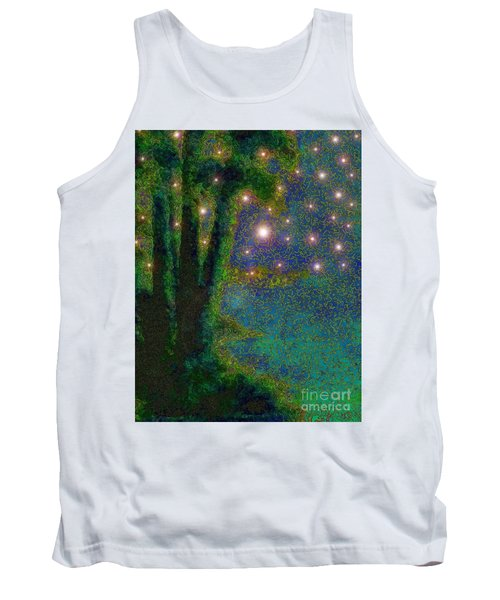 In The Beginning God... Tank Top by Hazel Holland