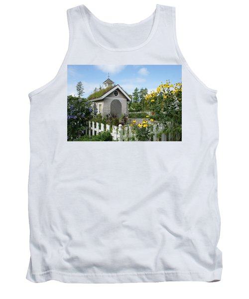 In The Garden Tank Top by Lois Lepisto