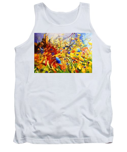 Tank Top featuring the painting In The Meadow by Georg Douglas