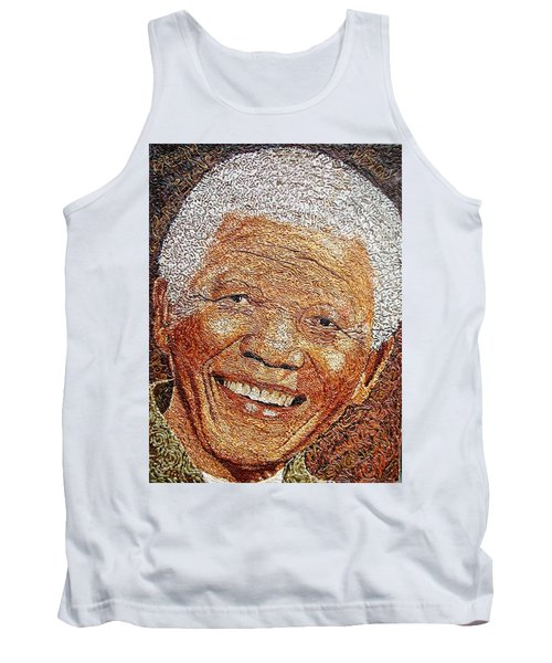 Nelson Mandela - In The Pyramid Of Our Minds Tank Top by Bankole Abe
