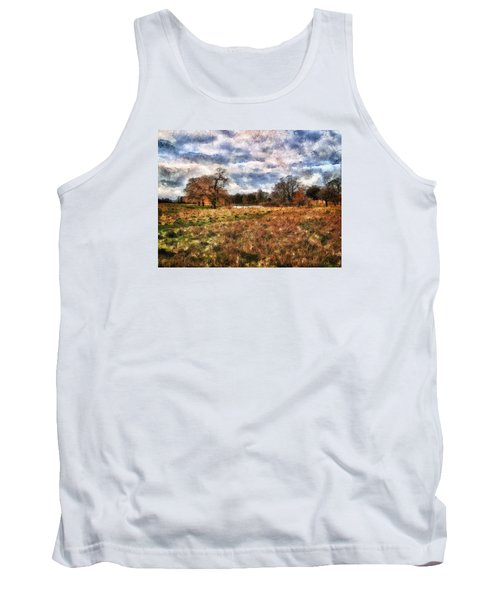 Tank Top featuring the digital art In The Rough by Leigh Kemp