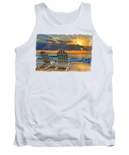 In The Spotlight Bordered Tank Top