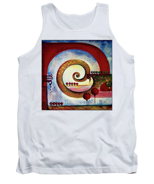 Tank Top featuring the painting In The World Of Balance by Anna Ewa Miarczynska