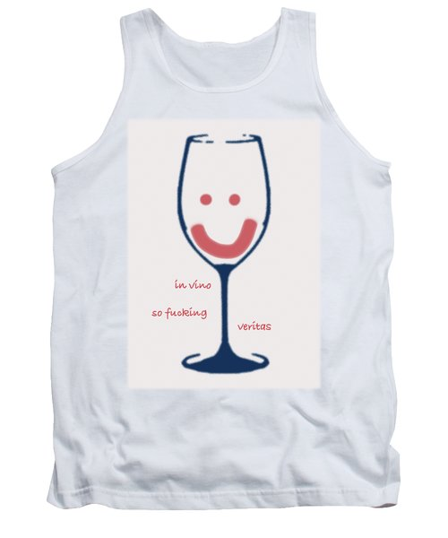 Tank Top featuring the drawing In Vino So Fucking Veritas by Frank Tschakert