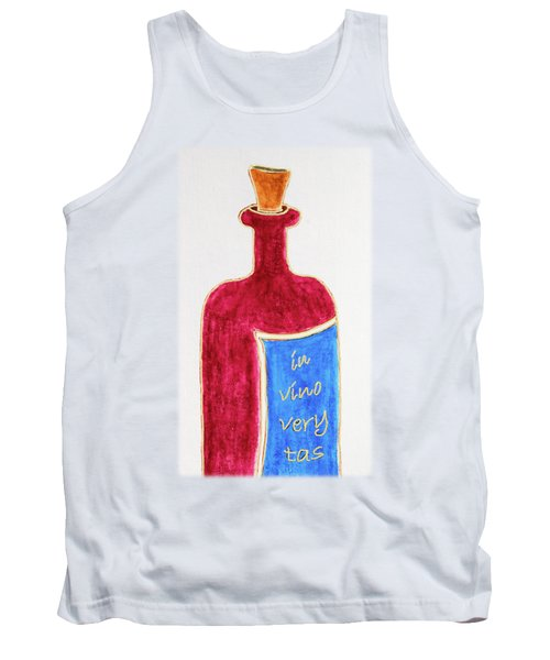 Tank Top featuring the drawing In Vino Very Tas by Frank Tschakert