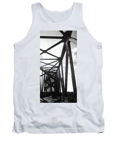 Tank Top featuring the photograph Indefinite Sight Bw by Jamie Lynn