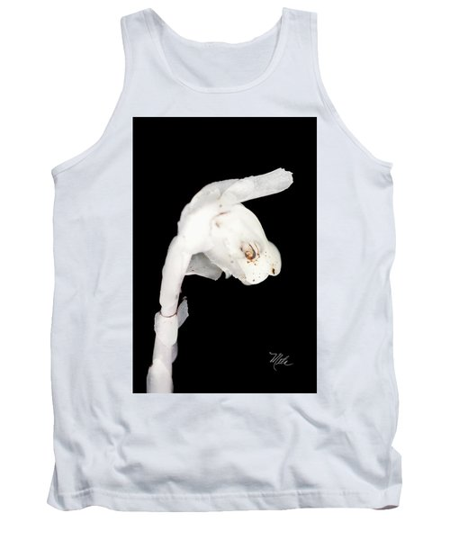 Tank Top featuring the photograph Indian Pipe Head by Meta Gatschenberger