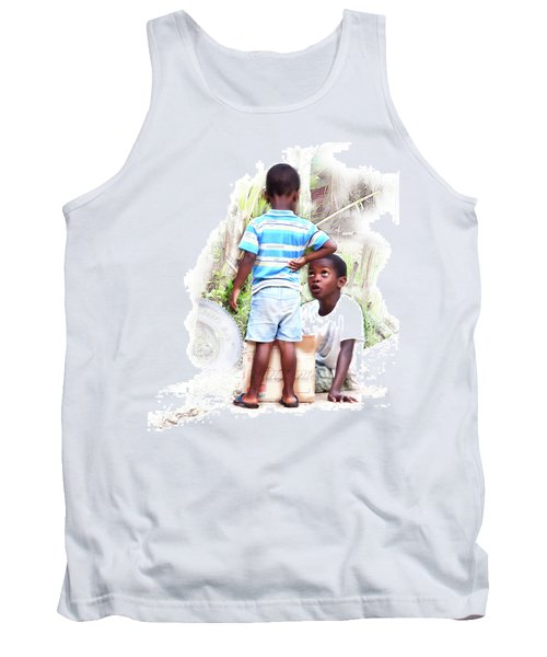 Indigenous Caribbean Kids In Panama Tank Top