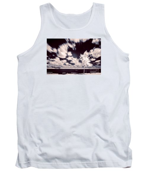 Infrared Lake Tank Top by Odon Czintos