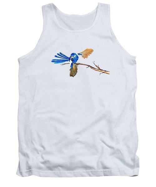 Inked Blue Fairy Wren Tank Top