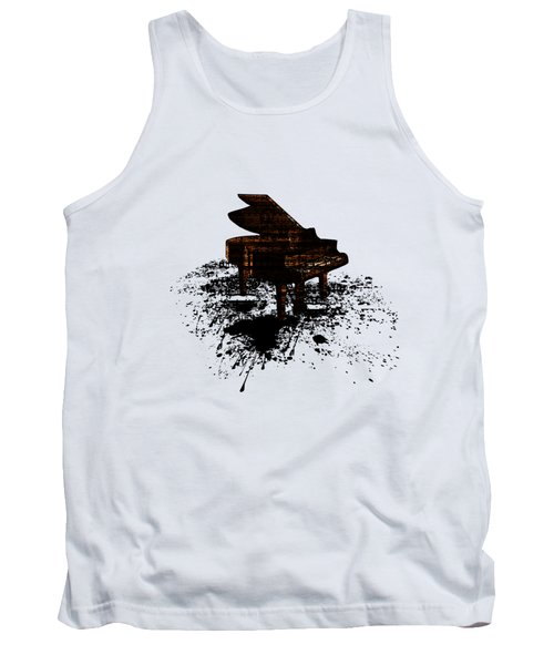 Inked Gold Piano Tank Top