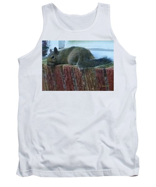 Tank Top featuring the photograph Inquisitor Visitor by Denise Fulmer