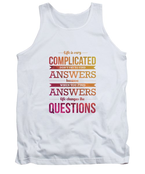 Inspirational Quote Typography Print Poster Tank Top