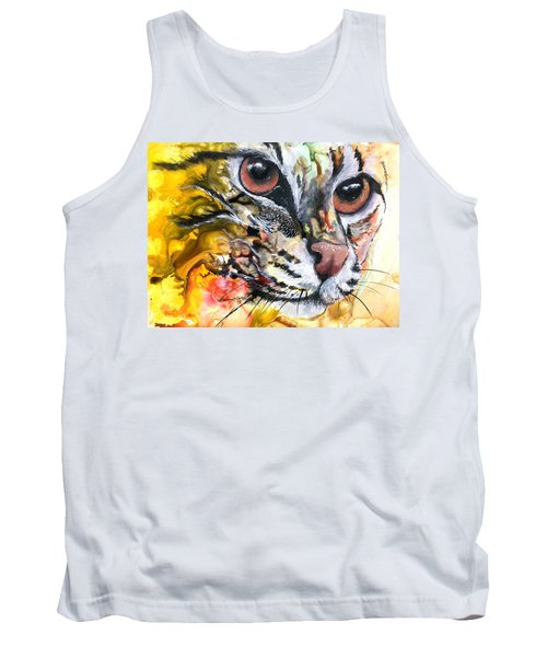 Tank Top featuring the painting Intensity by Sherry Shipley