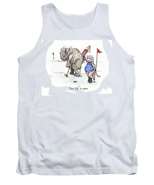 Tank Top featuring the painting Interrupting Concentration by Donna Tucker