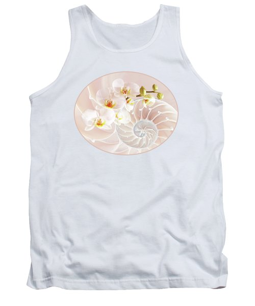 Intimate Fusion In Soft Pink Tank Top by Gill Billington