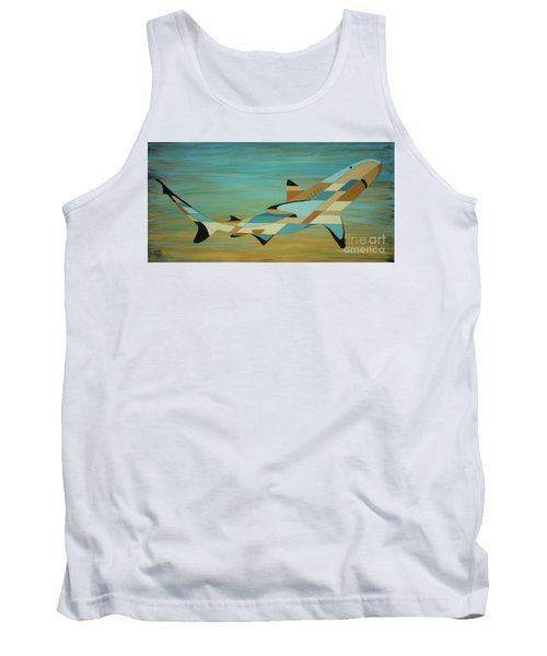 Into The Blue Shark Painting Tank Top