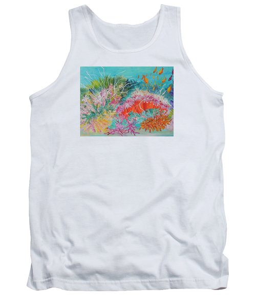 Tank Top featuring the painting Feeding Time # 3 by Lyn Olsen