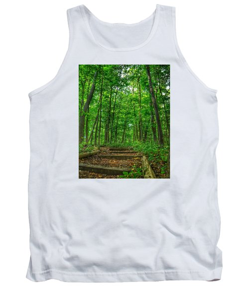 Tank Top featuring the photograph Into The Forest by Nikki McInnes