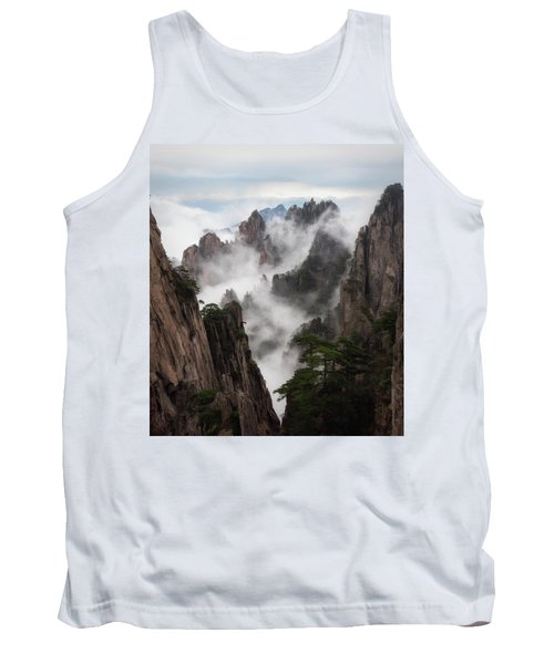 Invisible Hands Painting The Mountains. Tank Top