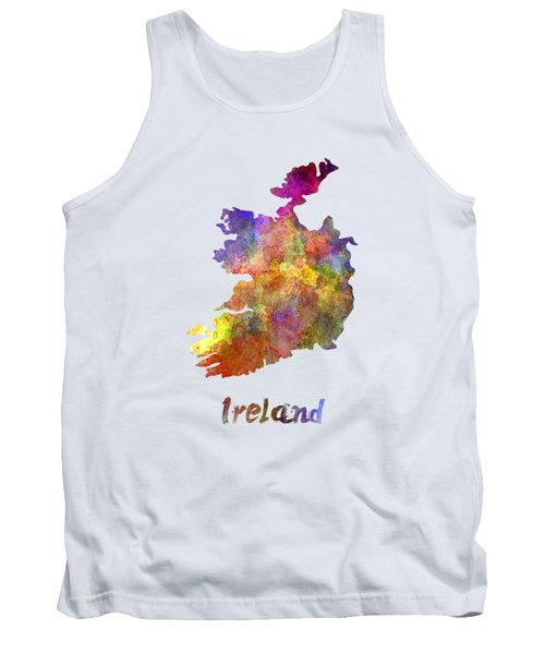Ireland In Watercolor Tank Top