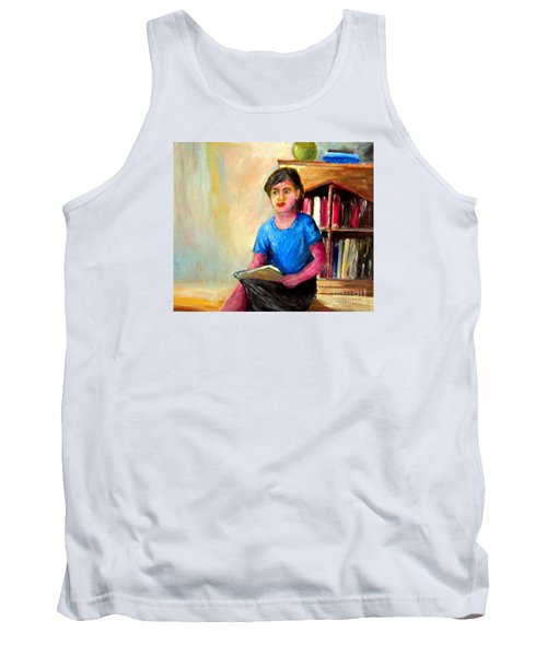 Tank Top featuring the painting Irene by Jason Sentuf