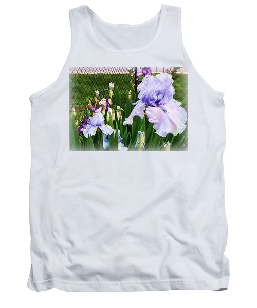 Iris At Fence Tank Top