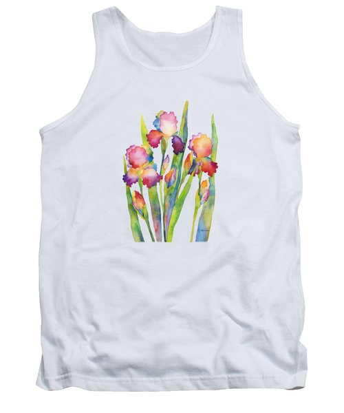 Iris Elegance Tank Top by Hailey E Herrera