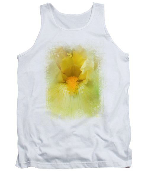 Iris In Lime Tank Top by Jai Johnson