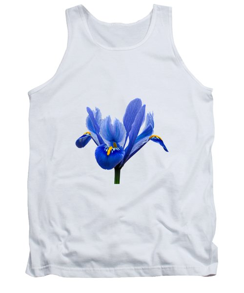 Tank Top featuring the photograph Iris Recticulata Transparent Background by Paul Gulliver