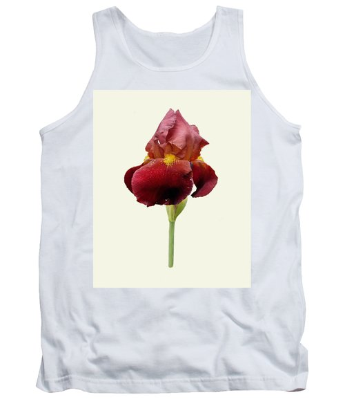 Tank Top featuring the photograph Iris Vitafire Cream Background by Paul Gulliver