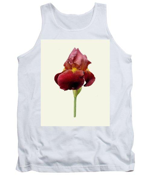 Iris Vitafire Cream Background Tank Top