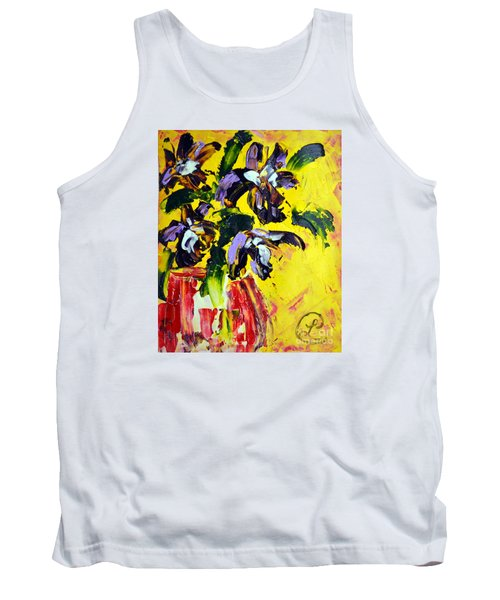 Irises Tank Top by Lynda Cookson