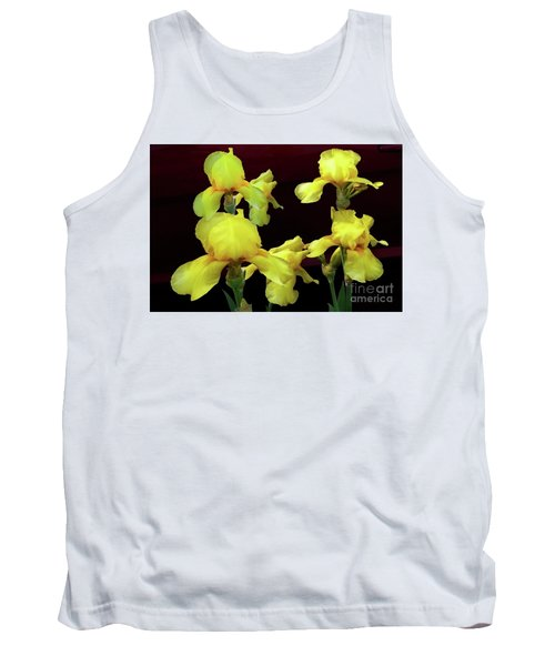 Tank Top featuring the photograph Irises Yellow by Jasna Dragun