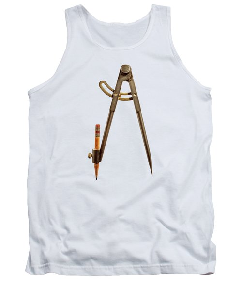 Iron Compass Back Split Color Paper Tank Top
