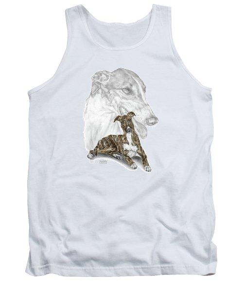 Irresistible - Greyhound Dog Print Color Tinted Tank Top