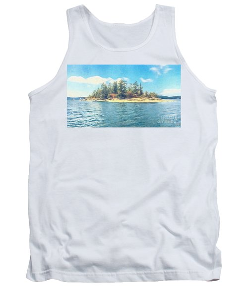 Tank Top featuring the photograph Island In The Sound by William Wyckoff
