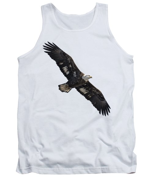 Isolated Juvenile American Bald Eagle 2016-1 Tank Top