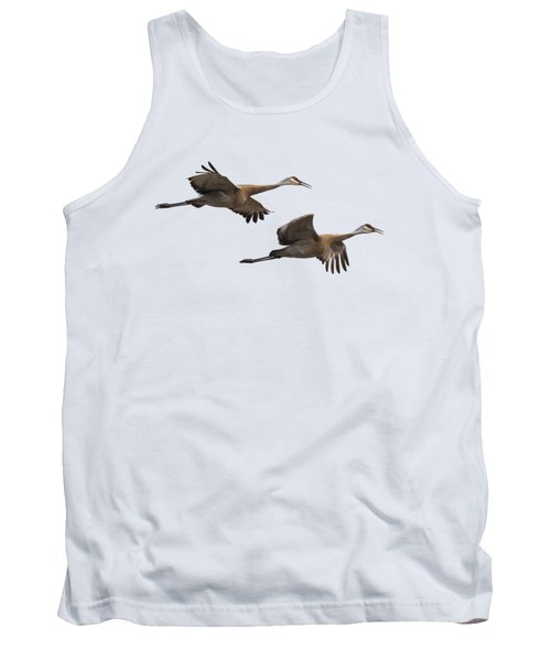 Isolated Sandhill Cranes 2016-1 Tank Top